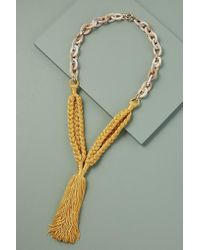 Anthropologie - Mixed-media Tasselled Necklace - Lyst
