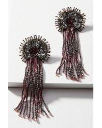 Olivia Dar - Tasseled Daisy Drop Earrings - Lyst