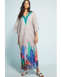 Bl-nk - Valena Cactus Maxi Dress - Lyst