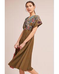 Hemant & Nandita - Candida Velvet Floral Midi Dress - Lyst