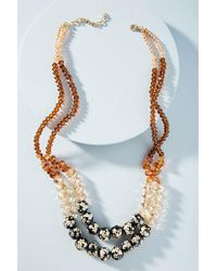 Anthropologie - Tanya Beaded Bib Necklace - Lyst