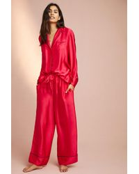 Anthropologie - Louhi Silk Sleep Trousers - Lyst