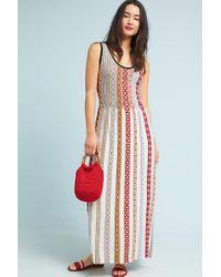 Anthropologie   Bungalow Striped Knit Maxi Dress   Lyst