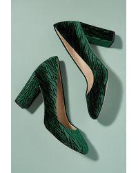 Sam Edelman - Textured-velvet Court Shoes - Lyst