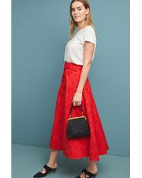 Anthropologie - Sorayah Textured-belted Midi Skirt - Lyst