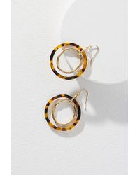 Anthropologie - Mixed-media Layered Hoop Earrings - Lyst