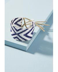 Sidai Designs - Navy Chevron Cuff Bracelet - Lyst