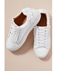 SELECTED - Jean Frill-leather Trainers - Lyst