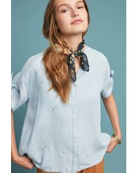 Anthropologie - Mesilla Embroidered Chambray Shirt - Lyst