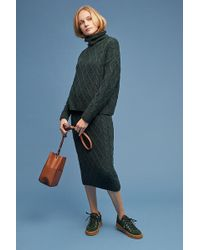 SELECTED - Lianne Cable-knit Pencil Skirt - Lyst