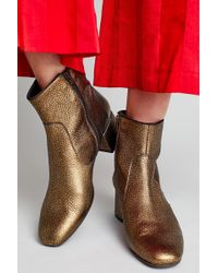 Anthropologie - Marley Metallic Ankle Boots - Lyst