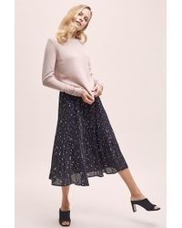 SELECTED - Printed-pleated Skirt - Lyst