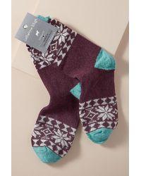 Anthropologie - Fairisle-printed Socks - Lyst