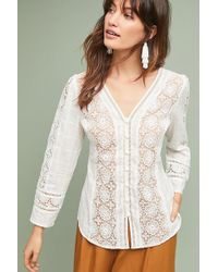 Tracy Reese - Textured-lace Blouse - Lyst