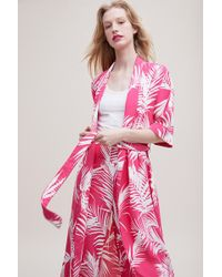 Just Female - Tropical-print Kimono Jacket - Lyst