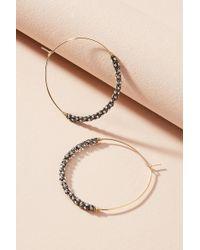 Anthropologie - Eyre Beaded Hoop Earrings - Lyst