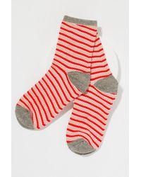 Becksöndergaard - Metallic Striped Ankle Socks - Lyst