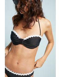 Shoshanna | Scalloped Bandeau Bikini Top | Lyst