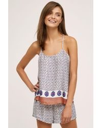 Eloise - Andria Printed Camisole, Purple - Lyst