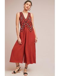 Maeve - Desert Embroidered Jumpsuit - Lyst