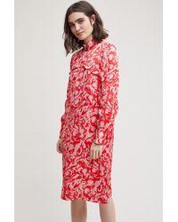 Second Female - Ruffled Marble Print Dress - Lyst