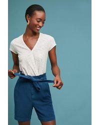 Anthropologie - Paperbag-waisted Bermuda Shorts - Lyst