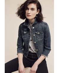 Pilcro - Raw-hemmed Denim Jacket - Lyst