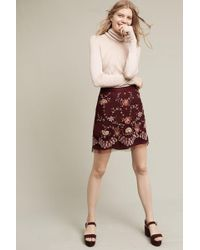 Ranna Gill - Regal Embroidered Mini Skirt - Lyst