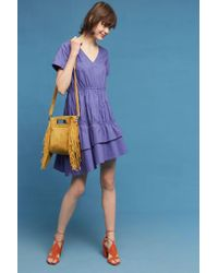 Blue Tassel   Amparo Poplin Dress   Lyst