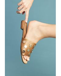 All Black - Satin Studded Slide Sandals - Lyst