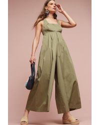Anthropologie - Amity Wide-leg Jumpsuit, Olive - Lyst