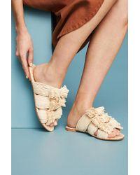 Pour La Victoire - Raffia Slide Sandals - Lyst