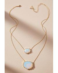 Serefina | Double Stone Pendant Necklace | Lyst