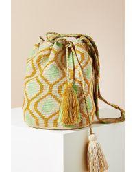 Anthropologie - Tasselled-printed Bucket Bag - Lyst