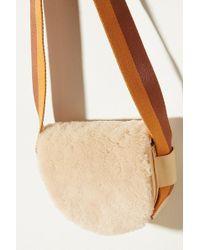 Liebeskind - Sheepskin-trimmed Leather Crossbody Bag - Lyst