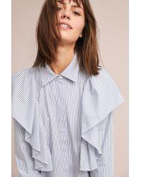 Just Female - Millburn Ruffled Buttondown - Lyst
