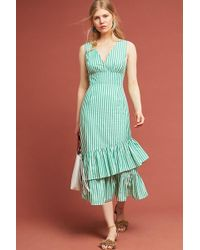 Tracy Reese - Gail Striped-ruffled Maxi Dress - Lyst