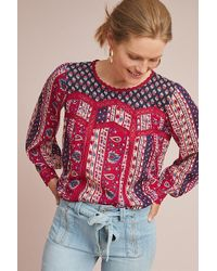 Anthropologie - Gretchen Patchwork Blouse - Lyst