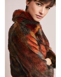 Seen, Worn, Kept   Geometric Faux Fur Coat   Lyst