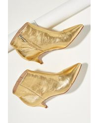Sam Edelman - Metallic-leather Ankle Boots - Lyst