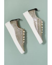 H by Hudson - Sierra Metallic-gold Leather Trainers - Lyst