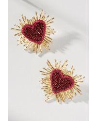 Olivia Dar - Heart Burst Post Earrings - Lyst