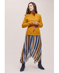 Just Female - Tina Striped-asymmetric Skirt - Lyst