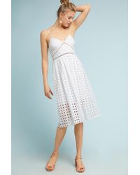 Donna Morgan - Gridded Lace Petite Dress - Lyst