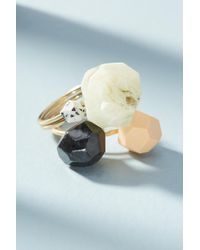 Anthropologie - Remnants Ring Set - Lyst