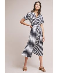 Anthropologie - Elwyn Striped Corseted Kimono Maxi Dress - Lyst