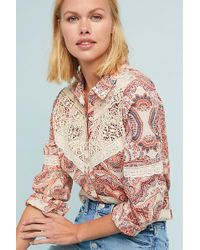 Seen, Worn, Kept - Laced Paisley Western Shirt - Lyst