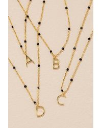 Anthropologie - Beaded Monogram Necklace - Lyst