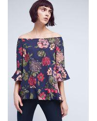 Paper Crown - Zelma Floral Off-the-shoulder Top, Blue - Lyst