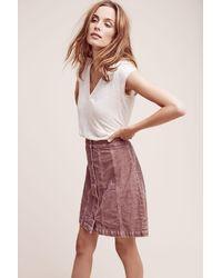 Pilcro - Gallery Corduroy Skirt, Red - Lyst